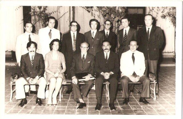Sentados de izquierda a derecha: Ruarte, Bisio, Dr. Agustín Díaz Bialet, Fonseca, Martín. De pie de izquierda a derecha: López, Viale, Marcatini, Cuneo, Soler, Pécile, Cadario.
