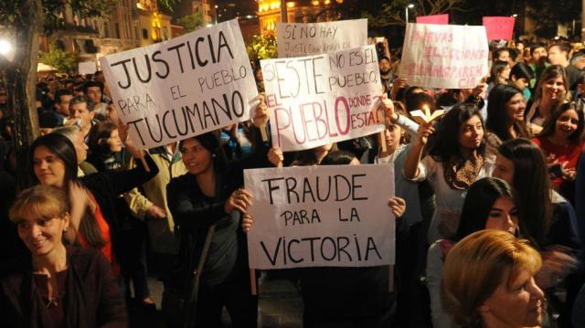 Protesta en las calles de Tucumán