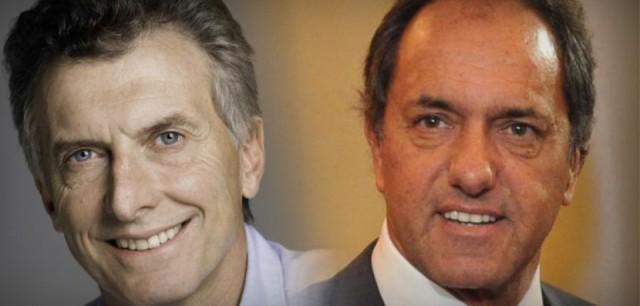 Mauricio Macri y Daniel Scioli