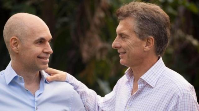 Horacio Rodríguez Larreta y Mauricio Macri